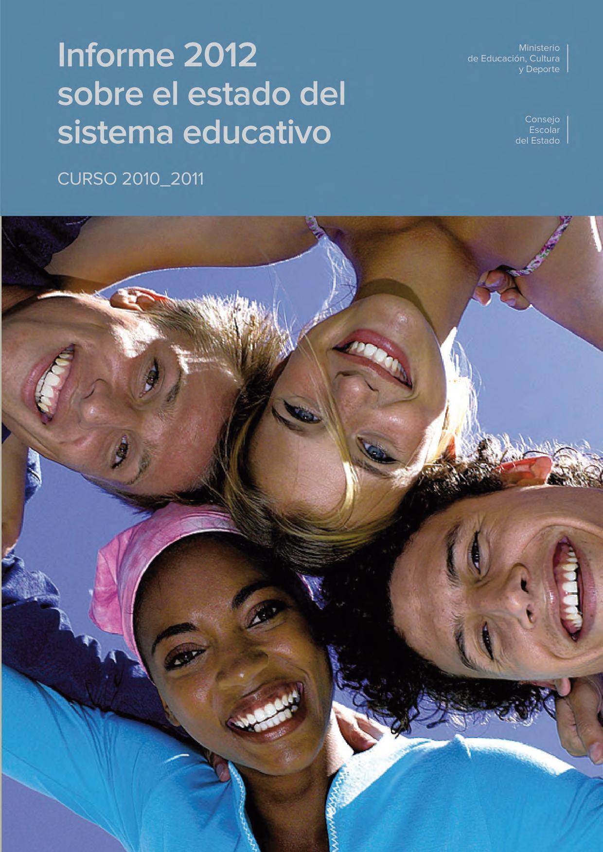 Portada Informe 2012. Consejo Escolar del Estado