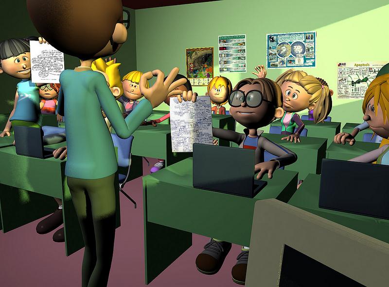 Los alumnos entregan sus trabajos. CeDeC . Licencia Creative Commons